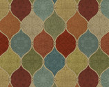 Spice Medallion - Ogee from David Textiles