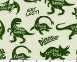 Mono Ecole - Dinosaur Green - CANVAS from Kokka