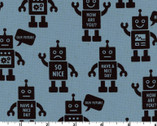 Mono Ecole - Robot Blue - CANVAS from Kokka