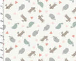 Little Ones - Animal Friends Light Gray from 3 Wishes Fabric