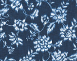 Indigo Summer - Navy Floral from Hoffman Fabrics