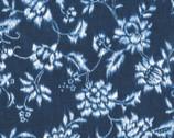Indigo Summer - Navy Floral from Hoffman Fabrics