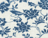 Indigo Summer - Cream Floral from Hoffman Fabrics