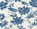Indigo Summer - Cream Floral from Hoffman Fabrics