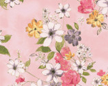 Painted Petals - Pink Floral Assorted from Hoffman Fabrics