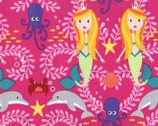 Mer-Mates - Siren Sisters Tropical Pink from Michael Miller