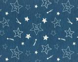 Kyururu - Oxford - Stars Blue from Lecien