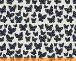 Lilla - Butterflies Black Natural by Lotta Jansdotter from Windham Fabrics