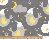 Sweet Dreams Little One - Good Night Sky Gray from Wilmington Prints