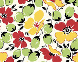 Feedsack Reproduction - Florals Yellow Green by Sara Morgan from Washington Street Studio