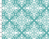 Imperial Rose - Medallion Turquoise from 3 Wishes Fabric