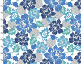 Imperial Rose - Blooms Blue White from 3 Wishes Fabric