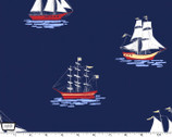 My Favorite Ship - Navy by Sarah Jane from Michael Miller