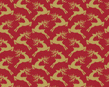 Santa's Stash - Reindeer Red from Patrick Lose Fabrics