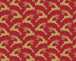 Santa's Stash - Reindeer Red from Patrick Lose Fabrics
