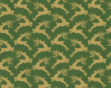Santa's Stash - Reindeer Green from Patrick Lose Fabrics