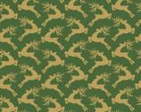 Santa's Stash - Reindeer Green from Patrick Lose Fabrics
