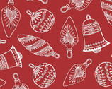 Santa's Stash - Ornaments Bauble Red from Patrick Lose Fabrics