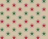 Santa's Stash - Stars Dots Beige from Patrick Lose Fabrics