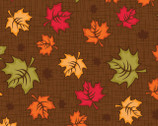 Autumn Palette - Maples Leaves Brown from Patrick Lose Fabrics