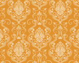 Happy Halloween - Damask Orange Tonal from Patrick Lose Fabrics