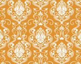 Happy Halloween - Damask Orange from Patrick Lose Fabrics