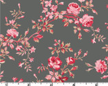 Carte Postale - Rose Vine Gray by Skipping Stones from Clothworks
