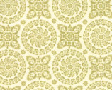 Refresh - Medallions Light Green by Sandy Gervais from Moda
