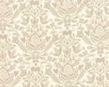 North Woods - Floral Medallion Linen Tan by Kate Spain from Moda