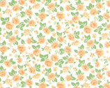 Sew & Sew - Roses Orange Fizz Cream by Chloe's Closet from Moda