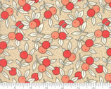 Chestnut Street - Floral Berries Tan by Fig Tree Quilts from Moda