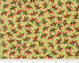 Chestnut Street - Floral Cotton Puffs Green by Fig Tree Quilts from Moda