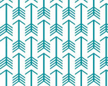 "Embrace - Archer Arrow Teal - DOUBLE GAUZE 49"" Wide from Free Spirit"