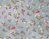 Pioneer Spirit - Calico Floral Dusty Blue by Tom Browning from Maywood Studio