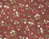 Pioneer Spirit - Calico Floral Red by Tom Browning from Maywood Studio