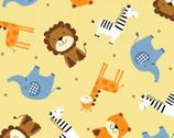 Noah's Story - Animals Pale Yellow by Swizzle Stick Studio from Studio E