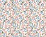 Flo's Little Flowers - Floral Leaves Pink and Blue from Lewis and Irene
