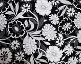 Essentials II Bold Floral - Black from Studio E