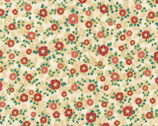 La Scala 7 - Garnet Small Flowers Beige Metallic from Robert Kaufman