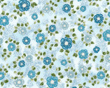 La Scala 7 - Garnet Small Flowers Light Blue Metallic from Robert Kaufman