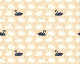 Swan Lake - Bevy Shell Swans by Patrick and Andrea Patton from Birch Fabrics