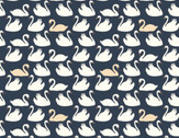 Swan Lake - Bevy Dusk Swans by Patrick and Andrea Patton from Birch Fabrics