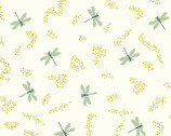 Swan Lake - Dragonflies Cream by Patrick and Andrea Patton from Birch Fabrics