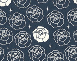 Tall Tales - Stamped Rose Dusk by Arleen Hillyer from Birch Fabrics