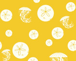 Charley Harper CANVAS - Sand Dollar and Jelly Yellow from Birch Fabrics