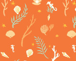 Saltwater - Flotsam and Jetsam Coral by Emily Winfield Martin from Birch Fabrics