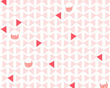 Catnap - Cat Bowtie Triangle Pink by Lizzy House from Andover