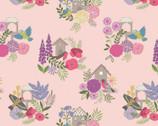 Grandma's Garden - Birdhouses Pink from Lewis and Irene