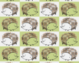 Just Friends - Hedgehog Light Green from Fabric Editions