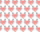 Good Night Forest - Fox With Glasses White from Fabric Editions